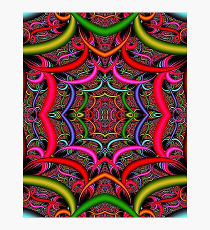 """ORIENTAL"" Psychedelic Art Deco Print Photographic Print"