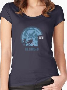 """Doctor Who """"Allons-y"""" 10th Doctor Women's Fitted Scoop T-Shirt"""