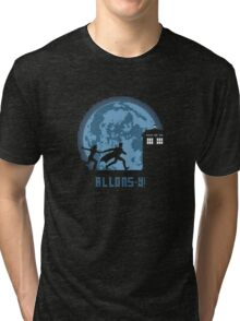 "Doctor Who ""Allons-y"" 10th Doctor Tri-blend T-Shirt"