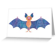 V is for Vampire Bat Greeting Card