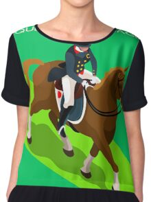 Equestrian Dressage 2016 Olympics Summer Games Chiffon Top