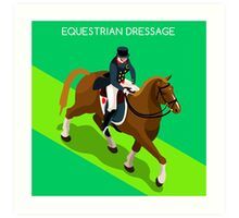 Equestrian Dressage 2016 Olympics Summer Games Art Print