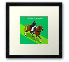 Equestrian Dressage 2016 Olympics Summer Games Framed Print