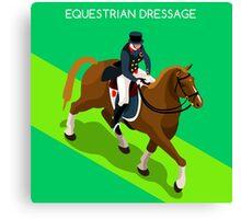 Equestrian Dressage 2016 Olympics Summer Games Canvas Print