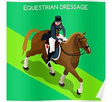 Equestrian Dressage 2016 Olympics Summer Games Poster
