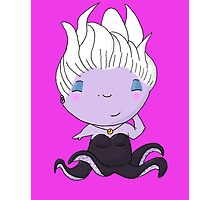 Kawaii Chibi Ursula The Sea Witch  Photographic Print