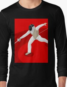 Fencing 2016 Olympics Summer Games Long Sleeve T-Shirt