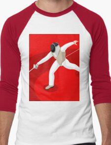 Fencing 2016 Olympics Summer Games Men's Baseball ¾ T-Shirt