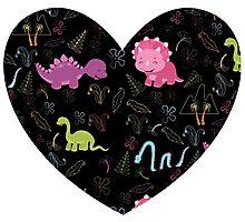 Dinamic Girlz Dino Pattern Photographic Print