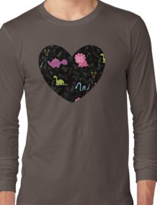 Dinamic Girlz Dino Pattern Long Sleeve T-Shirt
