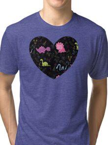 Dinamic Girlz Dino Pattern Tri-blend T-Shirt