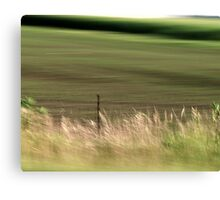 Farm Fence in Motion Canvas Print