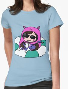 D.va x umaru Womens Fitted T-Shirt