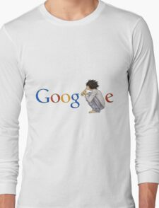 Google ( the L of google is replaced by L of death note ) Long Sleeve T-Shirt