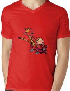 calvin and hobbes speed Mens V-Neck T-Shirt