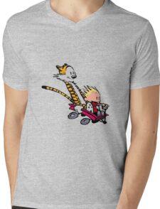 calvin and hobbes speed Mens V-Neck T-Shirt