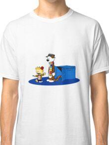 calvin and hobbes meets tardis box Classic T-Shirt
