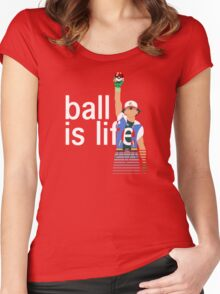 Pokeball Is Life Women's Fitted Scoop T-Shirt