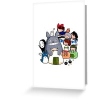 funny ghibli full colour Greeting Card