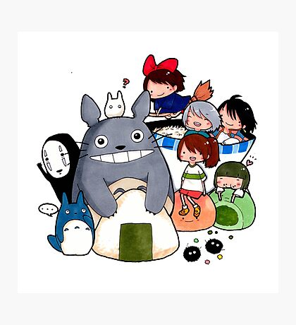 funny ghibli full colour Photographic Print