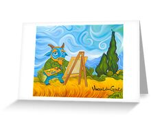 Vincent van Goat Greeting Card