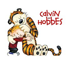 huggie Calvin And Hobbes Photographic Print