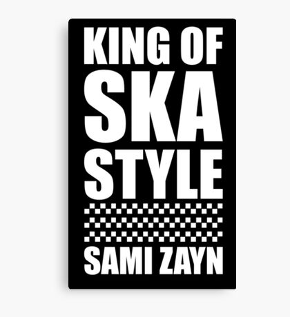 King Of Ska Style Canvas Print