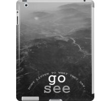 GO see the world iPad Case/Skin