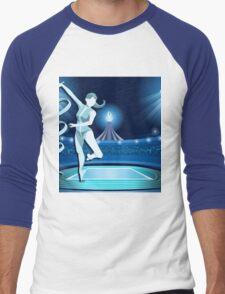 Gymnastics Background Olympics Summer Games 2016 Vector Illustration Men's Baseball ¾ T-Shirt