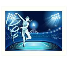 Gymnastics Background Olympics Summer Games 2016 Vector Illustration Art Print