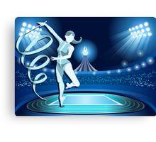 Gymnastics Background Olympics Summer Games 2016 Vector Illustration Canvas Print