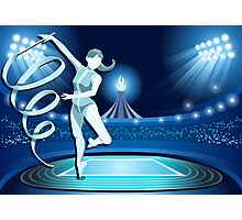Gymnastics Background Olympics Summer Games 2016 Vector Illustration Photographic Print