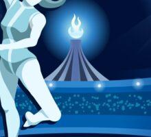 Gymnastics Background Olympics Summer Games 2016 Vector Illustration Sticker