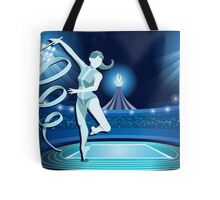 Gymnastics Background Olympics Summer Games 2016 Vector Illustration Tote Bag