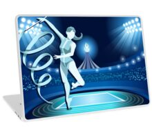 Gymnastics Background Olympics Summer Games 2016 Vector Illustration Laptop Skin