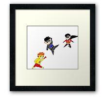 Little Heroes 2 Framed Print