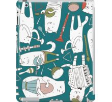 Cats band in blue(s) iPad Case/Skin
