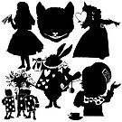 Alice In Wonderland - Silhouette Collection by Sally McLean