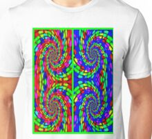 """ART DECO RIBBON"" Psychedelic Print Unisex T-Shirt"