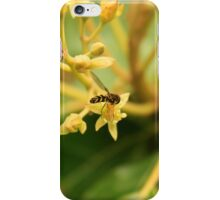 Small Bee on Avocado Flower iPhone Case/Skin