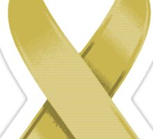 Gold Awareness Ribbon of Support Sticker