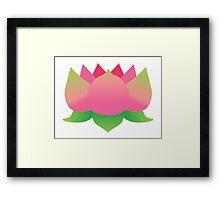 Pink Lotus Flower Framed Print