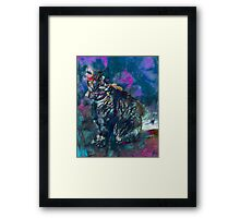 Momma Cat Abstract by Laura L. Leatherwood Framed Print