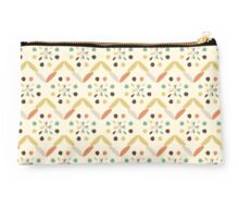 Zigzag and circles Studio Pouch