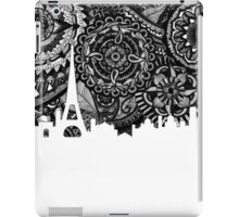 Zentangle City Paris [Black and White] iPad Case/Skin