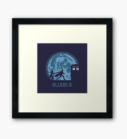"""Doctor Who """"Allons-y"""" 10th Doctor Framed Print"""