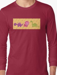Dinamic Girls Collection - Girl Dinosaur Design Long Sleeve T-Shirt
