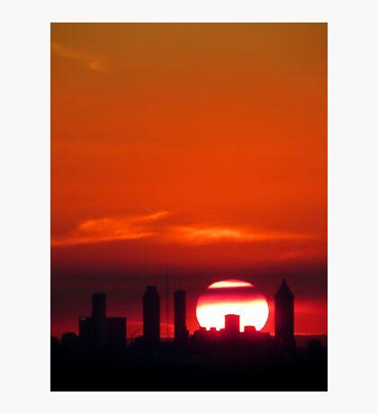 Skyline at Sunset Photographic Print