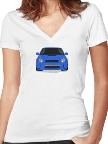 Blue WRX Vector Women's Fitted V-Neck T-Shirt
