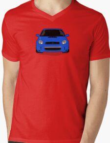 Blue WRX Vector Mens V-Neck T-Shirt